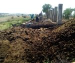 Funeral ashes being turned into manure at this crematorium in Rajasthan