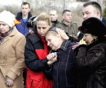 Funeral ceremony of explosion at Zasiadko mine