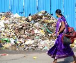 City streets piled up with garbage amid ongoing festive season