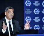 Vipin Kumar Saxena at a press conference