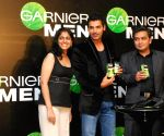Garnier announced Bollywood actor John Abraham as their brand ambassador for their Garnier Men fairness cream at Hotel Trident in Mumbai on Thursday.