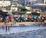MIDEAST GAZA DAILY LIFE BEACH