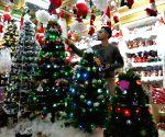 MIDEAST GAZA CHRISTMAS DECORATION