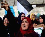 MIDEAST GAZA STRIP RAFAH UNRWA PROTEST