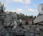 Seventeen people were lightly and moderately injured during the airstrikes