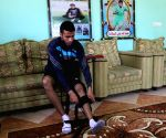 PALESTINE-GAZA-WOUNDED FOOTBALL PLAYER