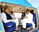 Gehlot, Pilot take same chopper as bypolls near