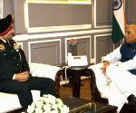 Lieutenant General Ranbir Singh meets Rajnath Singh