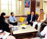 Georgian envoy meets Prahlad Singh Patel