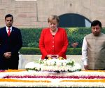 German Chancellor pays tribute to Mahatma Gandhi