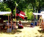 Reenactment of 151st anniversary of the U.S. Civil War battle