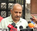 Manish Sisodia addresses mediapersons