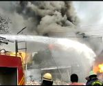 Free Photo: Ghaziabad factory caught fire, factory exploded in drums.
