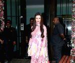 Giorgia Andriani seen at Arpita Khan's house