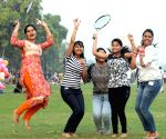 Girls enjoy pleasant weather