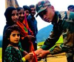 Women celebrate Raksha Bandhan with Army jawans
