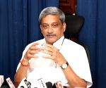 Ailing Parrikar makes surprise visit to upcoming bridge site in Goa