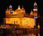 Golden Temple illuminated on the eve of Guru Nanak's 550th birth anniversary
