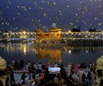 Illuminated Golden Temple on the eve of Guru Ramdas' birth anniversary