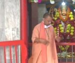 Yogi performs 'Kanya Pujan' in Gorakhnath temple