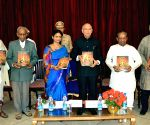 Governor HR Bharadwaj releasing a book 'Tantra the Science and Natya The Art The Two - Faceted Reality'
