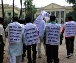 Gram Panchayat members' demonstration