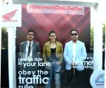 Greater Noida: Taapsee Pannu launches #HelmetOnLifeOn