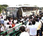 Gujarat Congress MLAs visit Raj Bhavan