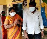 Tirupati bypoll: Gurumoorthy, Panabaka Lakshmi cast their votes