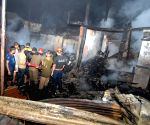 Fire at Pandu Railway Bazzar