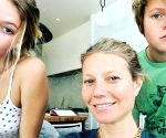 Gwyneth Paltrow gets 'moral support' from kids while working from home