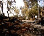 MIDEAST HALAMISH FIRE