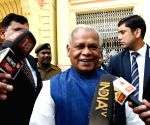 Jitan Ram Manjhi talks to media