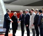 Hannover (Germany): Modi arrives in Germany