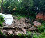 Heavy rain and wind under the impact of typhoon Rammasun