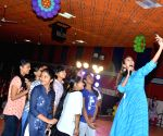 Happy Wedding' movie team seen at vishnu college