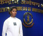 CBI Director Alok Verma felicitates Harshita Tomar