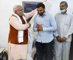 Haryana CM Manohar Lal meets UPSC Civil Services Examination topper Pradeep Singh Malik