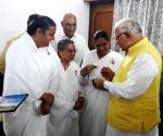 Haryana CM celebrates Raksha Bandhan with Brahm Kumaris