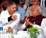 Haryana CM during a public meeting