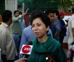 Kumari Selja talks to the media