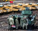 Turkish troops advance towards Manbij of Syria