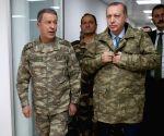 TURKEY HATAY PRESIDENT ERDOGAN COMMAND CENTER VISIT