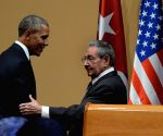 CUBA HAVANA U.S. OBAMA RAUL CASTRO PRESS CONFERENCE