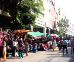 Hawkers outside New Market