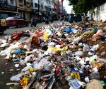 Heaps of garbage lying on Hyderabad streets