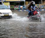 Heavy rain caused waterlogging at many places in Kolkata.