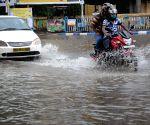 Heavy rain caused waterlogging at many places in Kolkata.