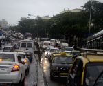 Heavy rains slows-down traffic