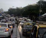 Heavy rains slows-down traffic